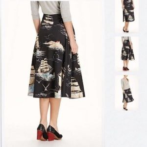 Anthro Leifnotes Sailaway circle skirt
